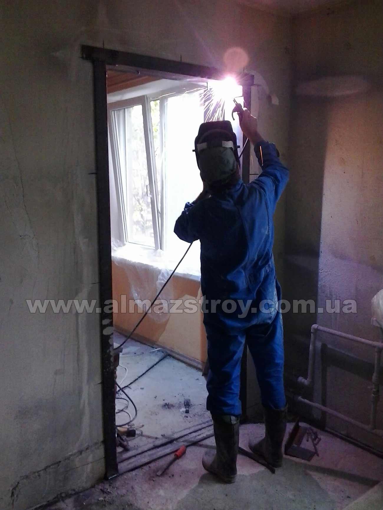 Усиление проема швеллером Харьков